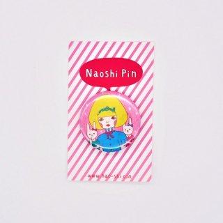 Naoshi 缶バッジ Rabbit Sisters