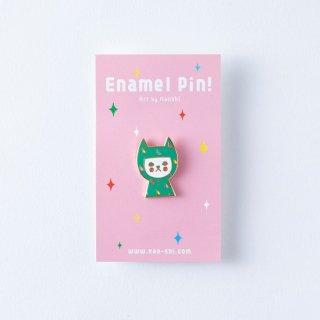 Naoshi エナメルピン Raincoat Cat
