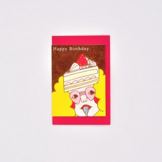 Naoshi ミニカード Happy Birthday
