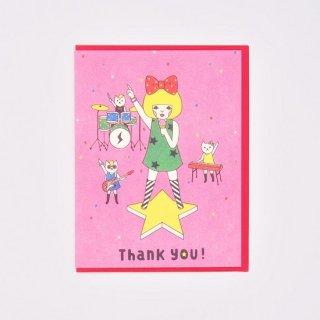 Naoshi グリーティングカード Thank you! Band of Cats