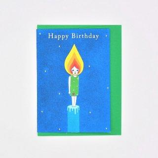 Naoshi グリーティングカード Happy Birthday Candle Boy