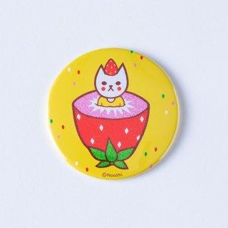 Naoshi 缶ミラー フルーツ猫 イチゴ
