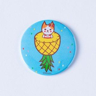 Naoshi 缶ミラー フルーツ猫 パイナップル