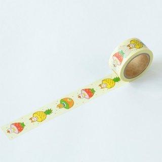 Naoshi マスキングテープ フルーツ猫
