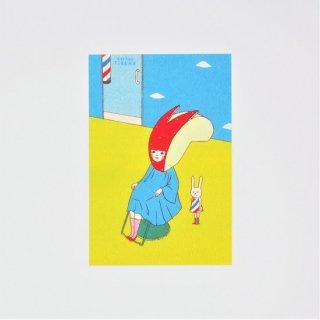 Naoshi ポストカード リンゴウサギ