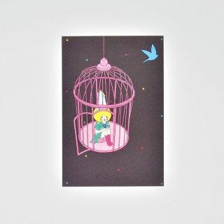 Naoshi ポストカード 真夜中の鳥かご