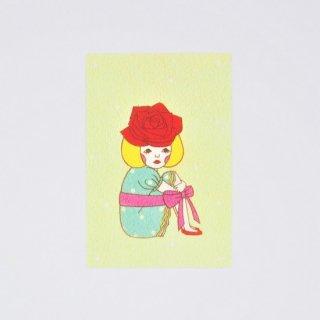 Naoshi ポストカード 一輪のバラ