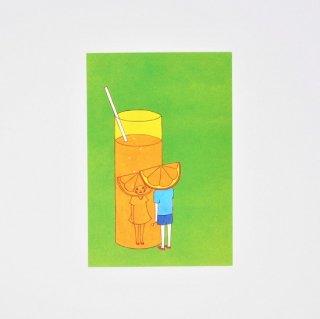 Naoshi ポストカード オレンジジュース