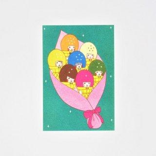 Naoshi ポストカード 花束アイス