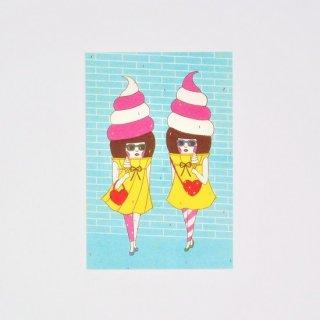 Naoshi ポストカード Soft Cream Girls