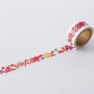 ワキタヨシコ マスキングテープ タコと海中さんぽ