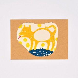 ワキタヨシコ 型染めカード イヌ