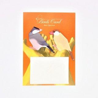 菊地絢女 BIRD CARD ブンチョウB