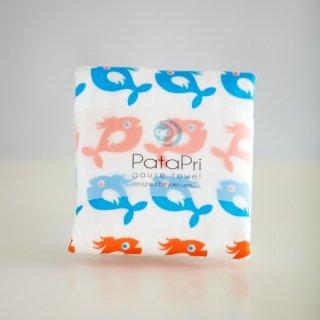 PataPri ガーゼタオル 魚