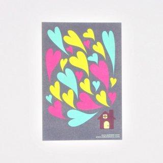 PataPri ポストカード 家とハート