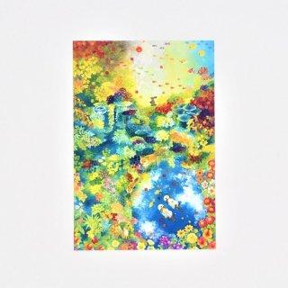 Natsuki Wakita ポストカード 紅葉の森