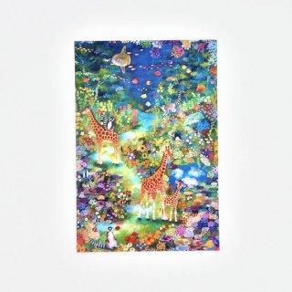 Natsuki Wakita ポストカード キリン