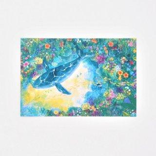Natsuki Wakita ポストカード クジラ