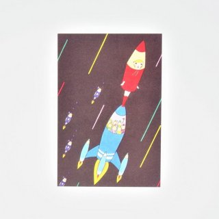 Naoshi ポストカード ロケットエンピツ