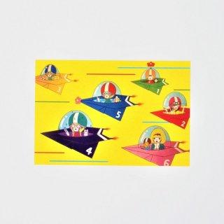 Naoshi ポストカード 紙ひこうきレース