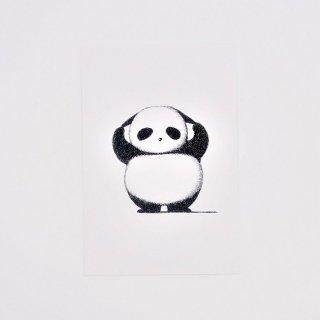 はせがわゆうじ ぱんだもん ポストカード ひっぱりパンダ