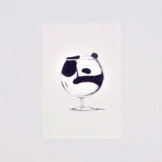 はせがわゆうじ ぱんだもん ポストカード 自ら入ってますパンダ