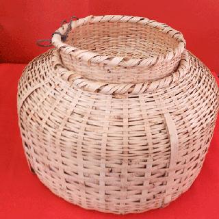 竹かご<p>(魚籠/びく)