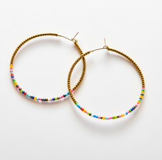 Candy Crassic Hoop Stone Hoop GOLD MIX