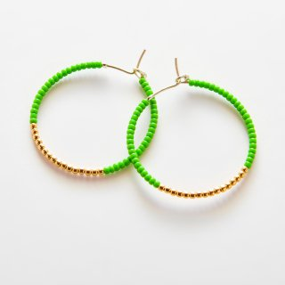 Candy Crassic Hoop Stone Hoop GREEN GOLD