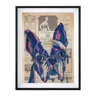 《EIJITAMURA DOG ART TOKYO エイジタムラ ドッグアートトーキョー》DOGART OLD PAPER PRINT ドッグアート カラフル ポップアート ポスター