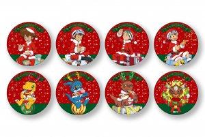 2020年12月下旬より順次お届け予定【僕らのデジモンクリスマスソング】缶バッジ(コンプリートセット)