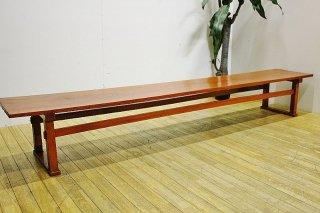 古い木の幅広ローテーブル 送料別 Iサイズ/昭和初期/F2084