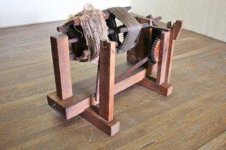 W糸巻機 古民具 実働します  ディスプレィにも 昭和初期 古録展  送料別    Dサイズ 中古 品番K686