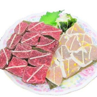 氷見和牛と桜どりの昆布締めセット(200g)
