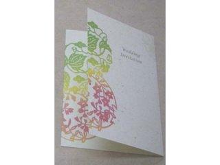 結婚式案内状(招待状)☆月桃紙ー花毬