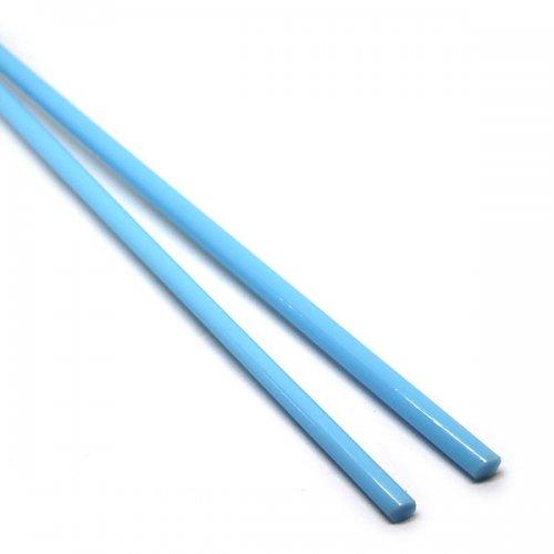 【C3-b】ガラスロッド(水色アルカリシリケートガラス)100g