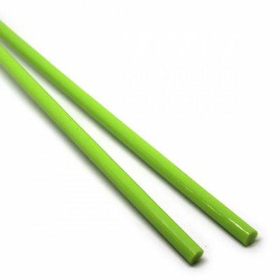《生徒価格で販売中》【C6-g】ガラスロッド(黄緑アルカリシリケートガラス)100g