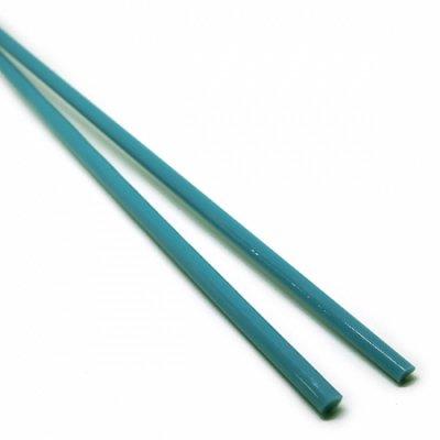 《生徒価格で販売中》【C13-b】ガラスロッド(青緑アルカリシリケートガラス)100g
