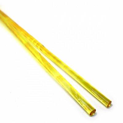 《生徒価格で販売中》【C17-o】ガラスロッド(クリアオレンジ色アルカリシリケートガラス)100g