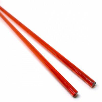 【C18-r】ガラスロッド(クリア赤色アルカリシリケートガラス)100g