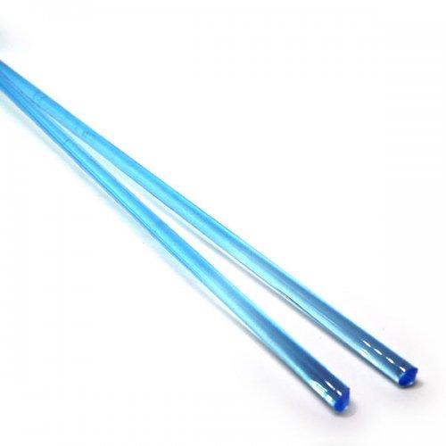 【C19-b】ガラスロッド(クリア水色アルカリシリケートガラス)100g