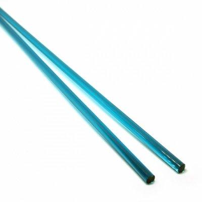 《生徒価格で販売中》【C21-b】ガラスロッド(クリア青緑アルカリシリケートガラス)100g