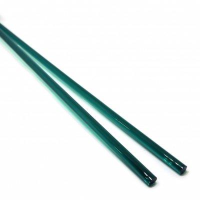 《生徒価格で販売中》【C27-g】ガラスロッド(クリア緑アルカリシリケートガラス)100g