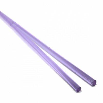 《生徒価格で販売中》【CS4-m3】ガラスロッド(クリア薄紫アルカリシリケートガラス)100g