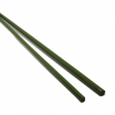 【CX112】ガラスロッド(緑(抹茶)アルカリシリケートガラス)100g