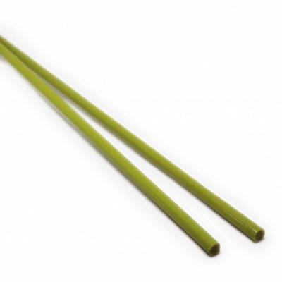 【CX114】ガラスロッド(緑(抹茶)アルカリシリケートガラス)100g