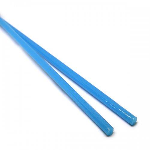 【CX130】ガラスロッド(乳白青アルカリシリケートガラス)100g