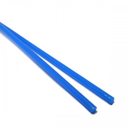 【CX131】ガラスロッド(乳白青アルカリシリケートガラス)100g