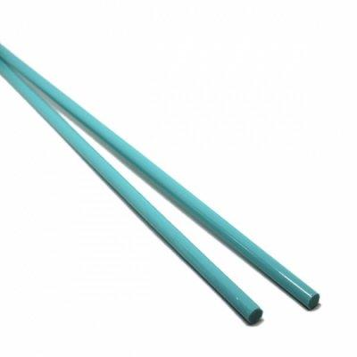 【CX141】ガラスロッド(青緑アルカリシリケートガラス)100g