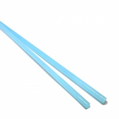 【CX161】ガラスロッド(乳白水色アルカリシリケートガラス)100g
